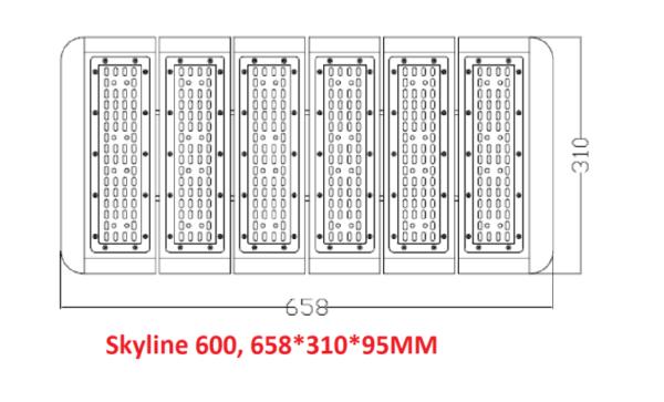 Skyline 600 MK2 Full spectrum LED grow lights