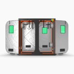 Green Qube V Grow Tent GQ200 2 x 2 x 2m OR 2.2m FRONT