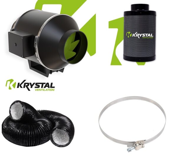 Krystal 4_ Twin Speed Inline Fan KIT